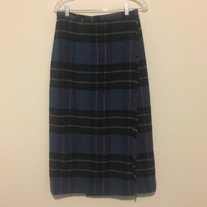 Vintage Rafaella Petites Wool Plaid Skirt